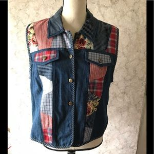 Koret City Blues Vest Denim Patchwork T103